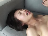 Oriental cutie loves giving sex pleasure to man who cums inside