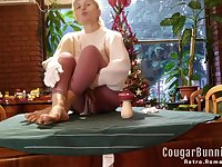 Panyhose Barefeet Table Strip Mature Hot Wife Plays N Shows --intro Video