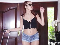 Redhead hottie Vanna Bardot gets fucked in wet pussy by a stud