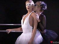 Ballet dancers take off panties to have lesbian sex - Cristal Caitlin