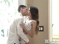 Beautiful babe Natalia Nix is making love with her new boyfriend
