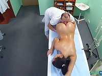 Nurse gets more then a massage from the doctor