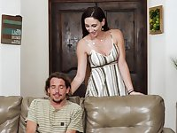 Glamorous wife Artemisia Love gets choked during sex with a lover