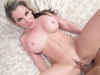 Big tits blonde mommy is in need of her stepson's rod