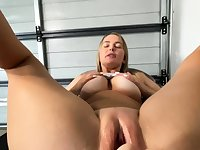 Lesbian Eve Angel licks big boobs