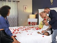 Passionate threesome is key to the successful married life