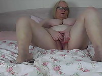 Naked and playing with pussy