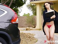 Chubby MILF Chanel Preston rides a lucky lover's penis