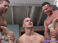 Prison orgy baton in Johnny Rapids ass