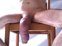 Pumping and siliconed cock 2