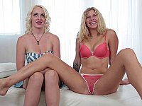 Hot casting for two blonde GFs