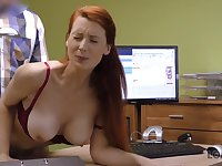 LOAN4K. Busty Tits redhead pays with intercourse for development...