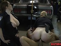 Big bum mommy threesome orgy with ejaculant in mouth