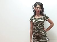Amy Winehouse lookalike comes to a casting to be drilled hard