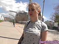 Amateur teen jizz money