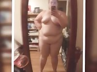 BBW granny Lisa Hull posing for homemade content