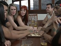 Excited sex friends talk to spirits and throw orgy