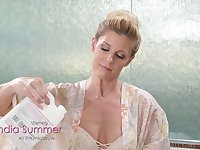 Salacious lesbian milf India Summer enjoys unforgettable nuru massage