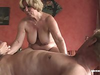 Anal orgy and creampies for mature blonde slutty MILF babes