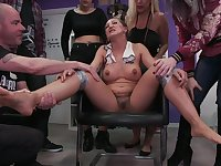 Betty Foxxx and her slutty friends have a hardcore bondage orgy