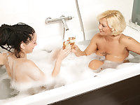 Feet and pee loving old and young lesbian bath nymphos
