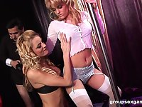 threesome with Black Angelika and her lesbian friend is the best party