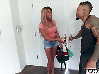 Interracial MMF threesome with stunning Mercedes Carrera includes hard banging