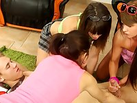 Sex party turns naughty for a group of amateur teens