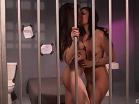 Lesbian prison sex with Andy San Dimas and Aiden Ashley