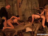 Dungeon orgy with Eufrat and her slutty mature friends