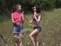picnic in the wild nature is lesbian sex adventure for horny Vika Lita