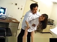 Japanese AV Model nurse is fucked oral and in cooter by doctor