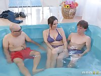 There is nothing better for Dana DeArmond than a fuck in the pool