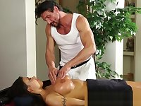 Massaged bigtitted uniformed cop nailed hard