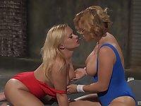 adorable Katja Kassin and Krissy Lynn please each other's cunts