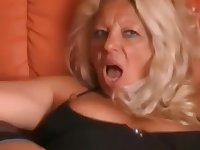 Gaped German mature latina squirts hard