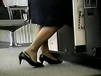 Pantyhose. Feet that hurt in shoes slip out of them in frantic moments