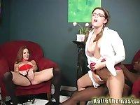 Powerful interracial pleasures for both Katie Thomas and Riley Shy