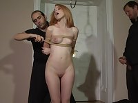 Tied up blonde girlfriend Amarna Miller fucked by her partner