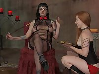 Dirty dominand lady uses her friends as sex slaves and loves it!