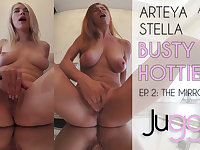 Arteya & Stella Cardo in Busty Hotties - Ep. 2: The Mirror - perVRt