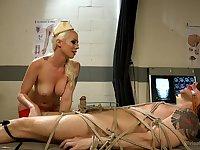 Kinky medical play and bondage with menacing Mistress Lorelei Lee