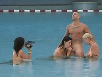 Jason Gets Lucky With Two Girls In Wave Pool