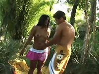 Latina Babe Hot Sex in the Jungle