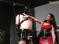 Dominant Mistress Hidest wants to show to her friends what is a BDSM