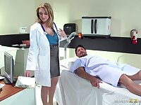 Horny doctor Brooke Wylde surprises her patient with a fuck