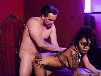 Obedient submissive Genevieve Sinn gives Master what he wants