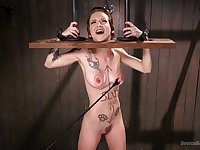 Extreme punishment and torture video with skinny Jeze Belle