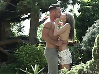 Sensual fucking in outdoors with first time anal for Gina Gerson