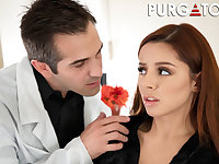sweet teen Vanna Bardot and horny doctor